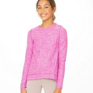 Lululemon Reach new Heights ls tee *heathered pink